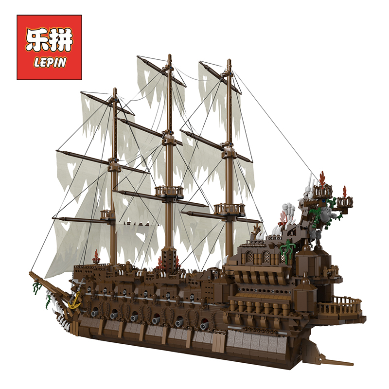 Lepin 16016 MOC Movies Series The Flying the Netherlands Set Building Blocks Bricks Educational Children Toy Model Christmas lepin 16050 the old finishing store set moc series 21310 building blocks bricks educational children diy toys christmas gift