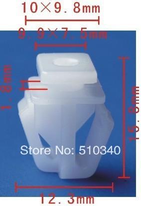 Frete grátis 100 pcs plástico rebites carro assento auto cabide