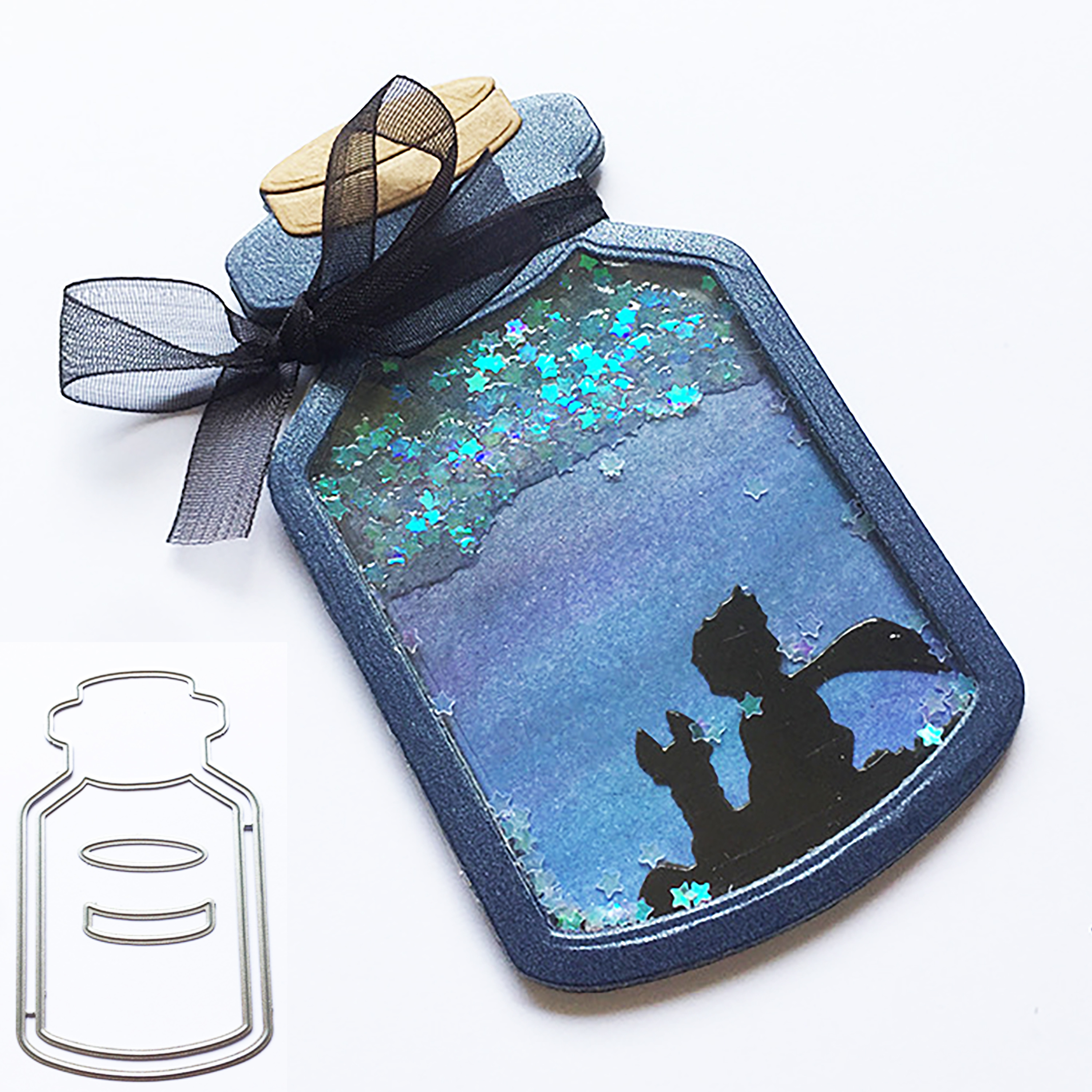 Wish Bottle Cup Metal Cutting Dies For DIY Scrapbooking Album Paper Cards Decorative Craft Embossing Die Cut