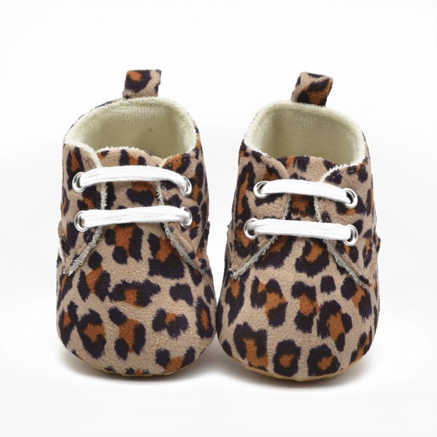 baby shoes 2017 Infant Girls Leopard Soft Bottom Prewalker baby shoes girls 1 year all seasons 17Dec25