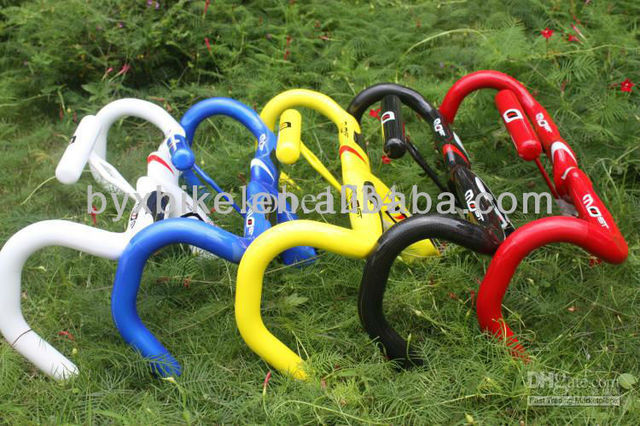 free shipping! carbon cycling most road handlebar matte/glossy &bicycle handles&white/black/yellow/blue/red available