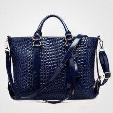 2017 Brand Women's Handbags Genuine Leather Bag Ladies Pattern Women Messenger Bags Shoulder Bag Female Tote Alligator Bags
