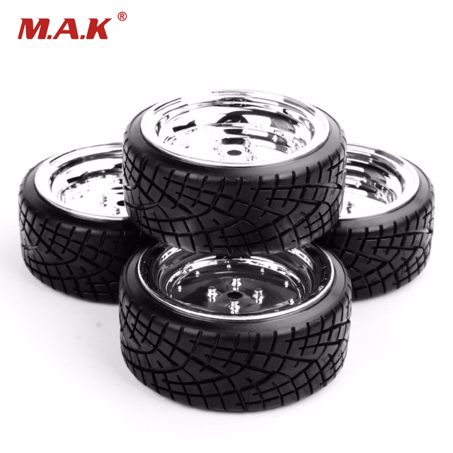 1/10 Scale RC On Road Car Model Toys Accessory Drift Speed Tyres/Tires & Wheel Rim Model 4pcs   Collections PP0290+PP0107