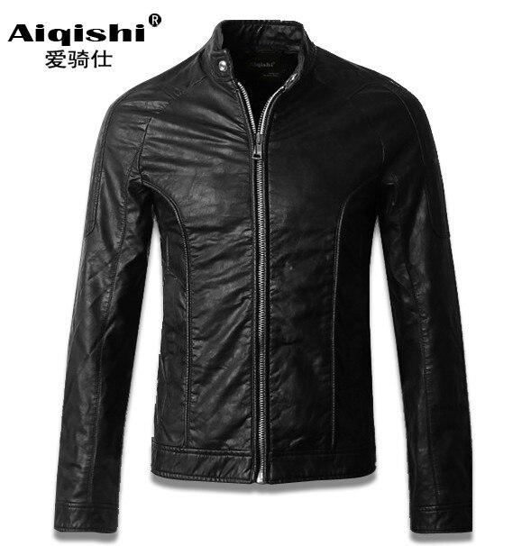 Free shipping spring autumn font b leather b font clothing font b men s b font