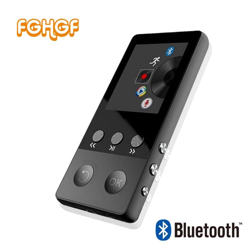 FGHGF New Metal Bluetooth MP4 Lecteur 8 gb 1.8 pouce Écran Jouer 50 heures avec FM Radio E-book Audio Vidéo lecteur Portable Walkman