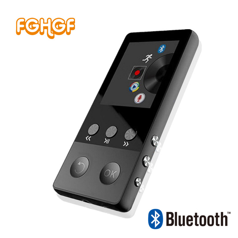 FGHGF New Metal Bluetooth MP4 Player 8GB 1.8 Inch Screen Play 50 hours with FM Radio E-book Audio Video Player Portable Walkman
