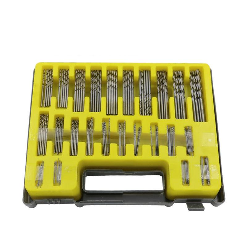 150PCS 0.4-3.2mm Drill Bit Set Small Precision With Carry Case Plastic Box Mini HSS Hand Twist Drill Kit Tools  HUG-Deals