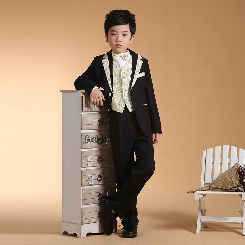 Acthink Gentle Boys 6pcs Dress Suits Vestblazerpantshirtbowtie
