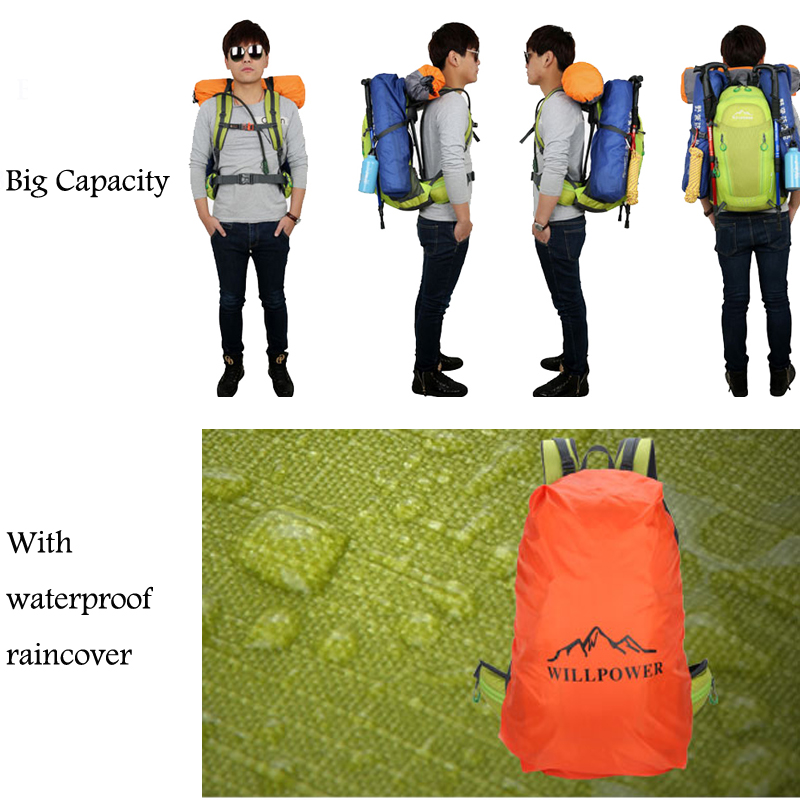 40L Waterproof Travel Backpack Mens Outdoor Camping Trekking Backpack Climbing Mountain Outdoor Backpack Sports Bag Bags 5
