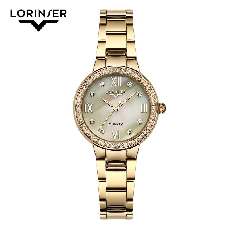 2019 Lorinser japan MOVT Sliver Stainless Steel Watches Women Top Brand Luxury Casual Clock Ladies Wrist Watch Relogio Feminino 1