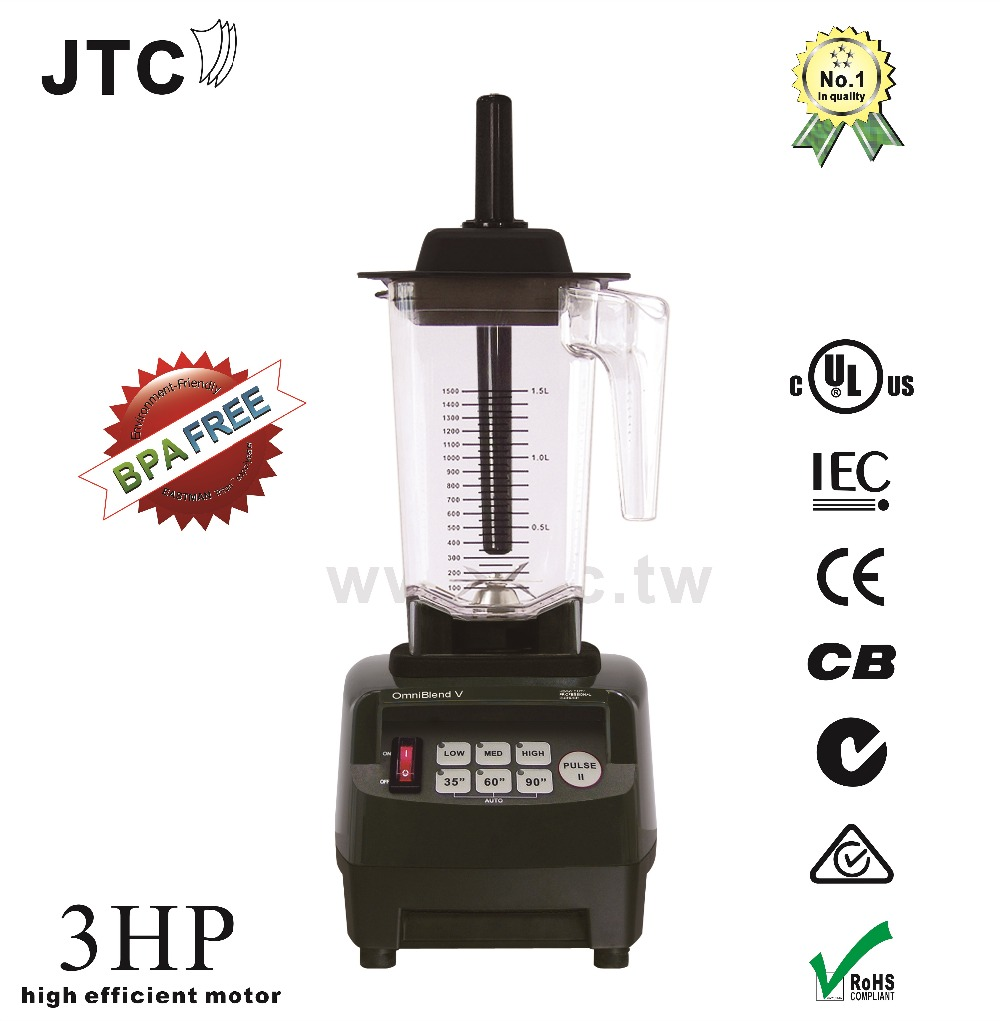 JTC 3HP Food blender with  BPA free jar, Model:TM-800AT, Black, free shipping, 100% guaranteed, NO. 1 quality in the world блендер для сухого молока 3hp 38000 2 jtc omniblend tm 800aq tm 800aq