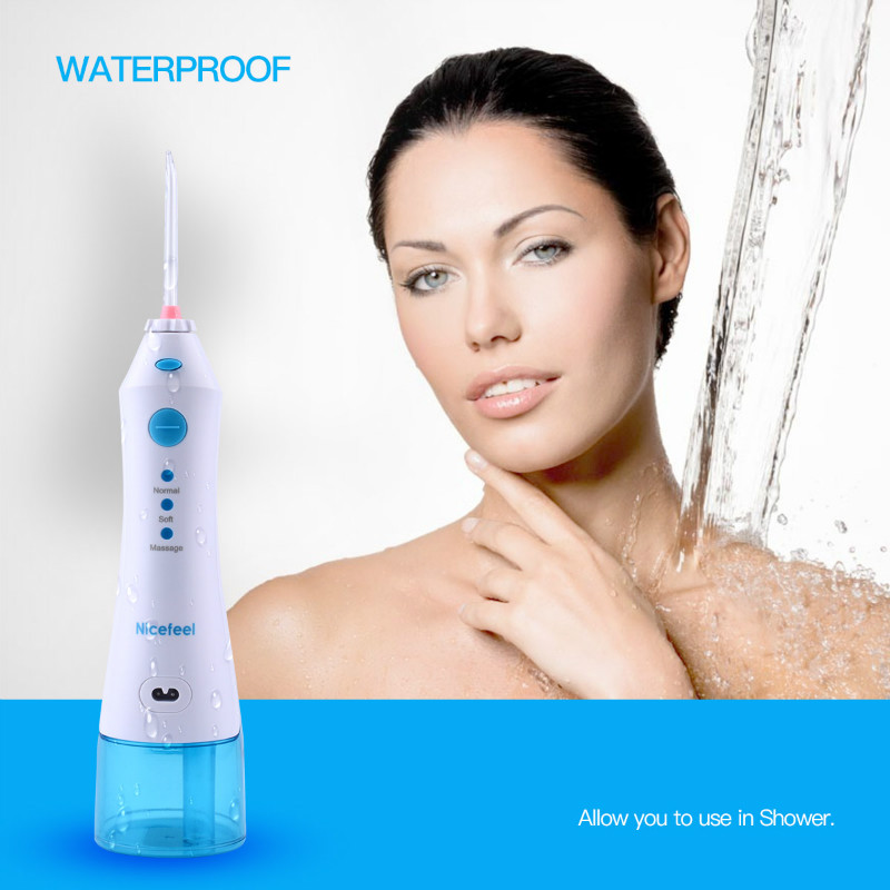 Nicefeel Portable Oral Irrigator Rechargeable Water Flooser Dental Water Jet Dental Floss Water Pick Dental Flosser Oral Hygiene nicefeel electric oral teeth dental water flosser dentistry power floss irrigator jet cleaning mouth cavity oral irrigador