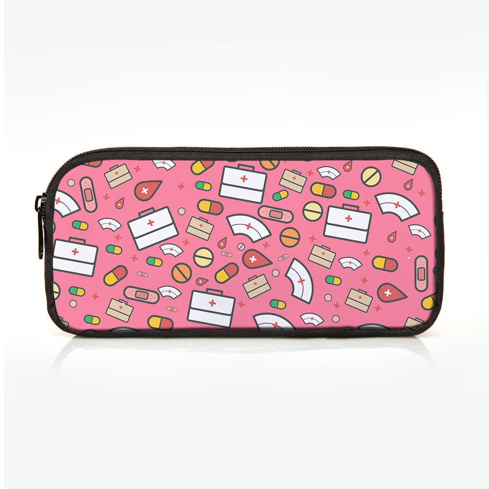 8326ef874f7 FORUDESIGNS 16 inch Primary School Bag Set Pencil Case for Children Girls  Cartoon Nurse Printing Cute Pink Backpack Japanese