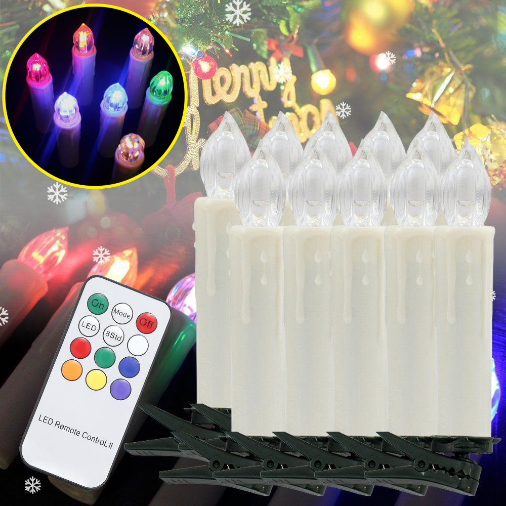 60PCS Colorful LED Candle Light Flameless Romantic Indoor Decoration Christmas Birthday Wedding New Year fancy purple led flameless candle