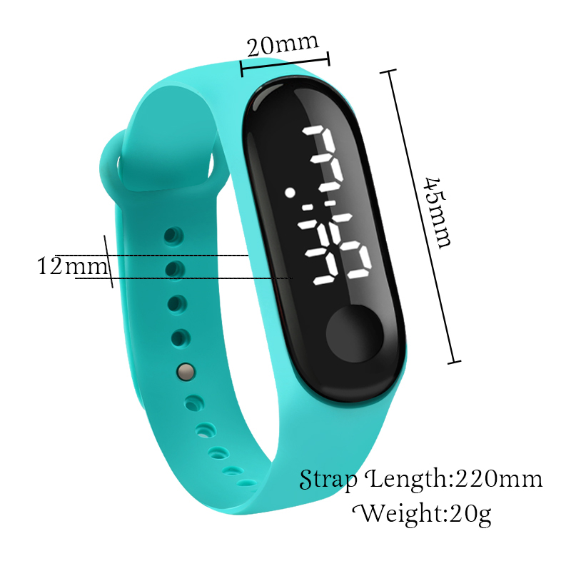 Men LED Digital Watch Luxury White Light Touch Screen Silicone Strap Wristwatch Women Sports Yoga Bracelets Watches Kids Clocks 5