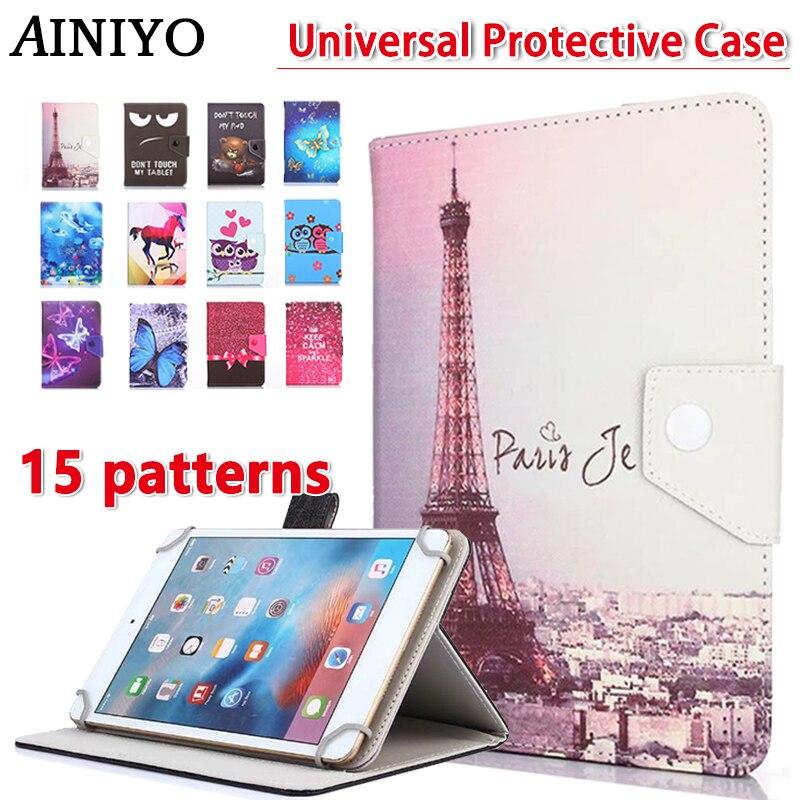 Uniwersalny Cartoon Case dla Teclast M89 p89se m89 pro 7.9 cal Tablet PU skórzany podstawka ochronna pokrywa + 3 prezenty