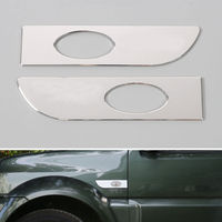 Front Fender Side Turn Signal Light Lamp Cover Trim Aluminum Alloy Exterior Car Styling Accessories For
