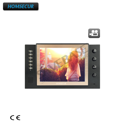HOMSECUR TM801R-B Indoor Monitor For HDW Wired Video Door Phone Intercom System
