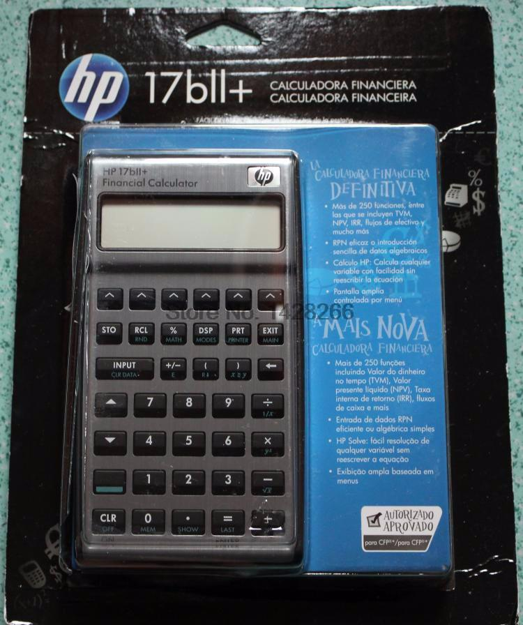 Second Hand Hp 17BII+ Financial Calculator 22 Digits Lcd Eletronicos ...