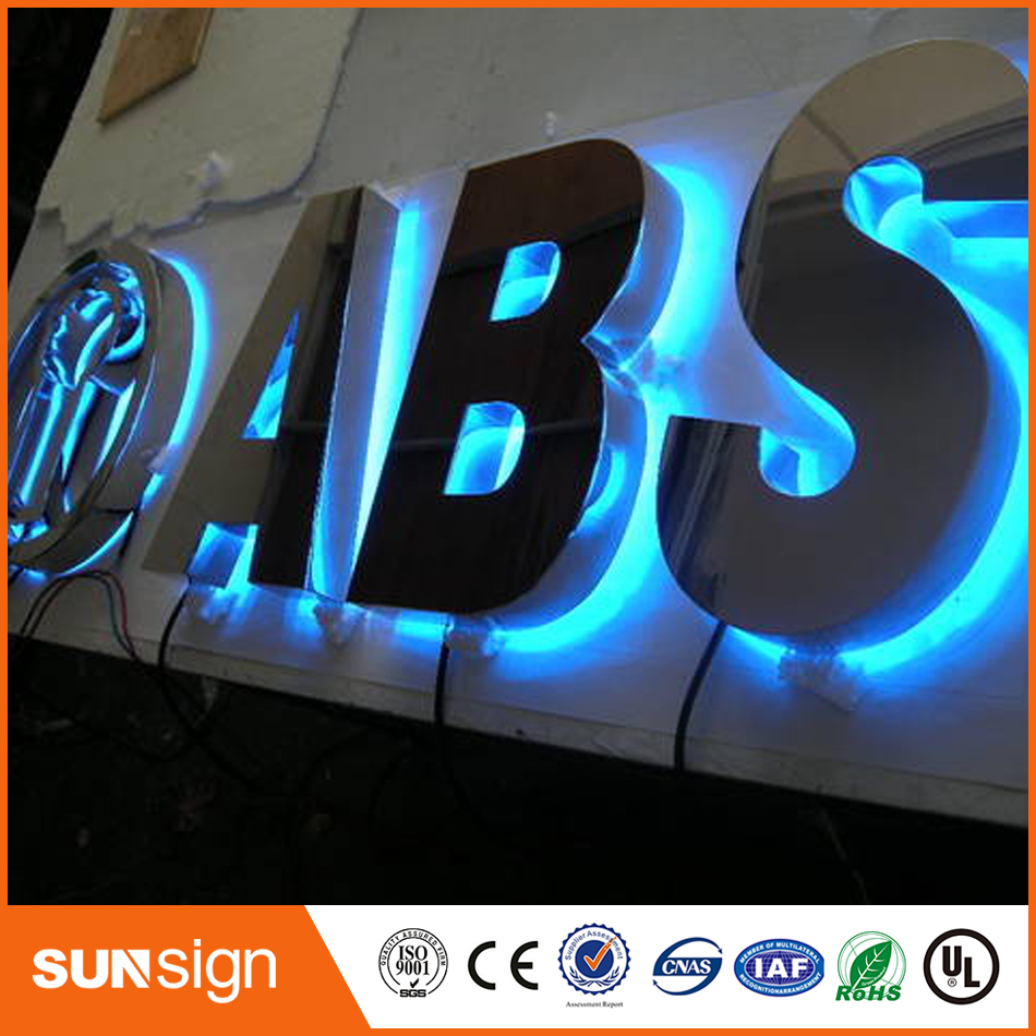 3D Backlit Led Light Metal  Channel Letter