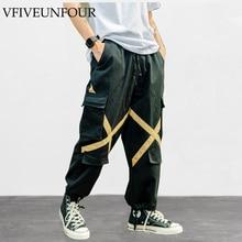VFIVEUNFOUR Vintage 2019 New Arrivals Big Pocket Man Trousers Casual Cargo Pants Plus Size Multi Sweatpants