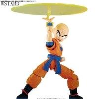 WSTXBD Original de Dragon Ball Z DBZ Figura de Altura Estándar Krilin PVC Figura Muñecas Juguetes Brinquedos Figurals