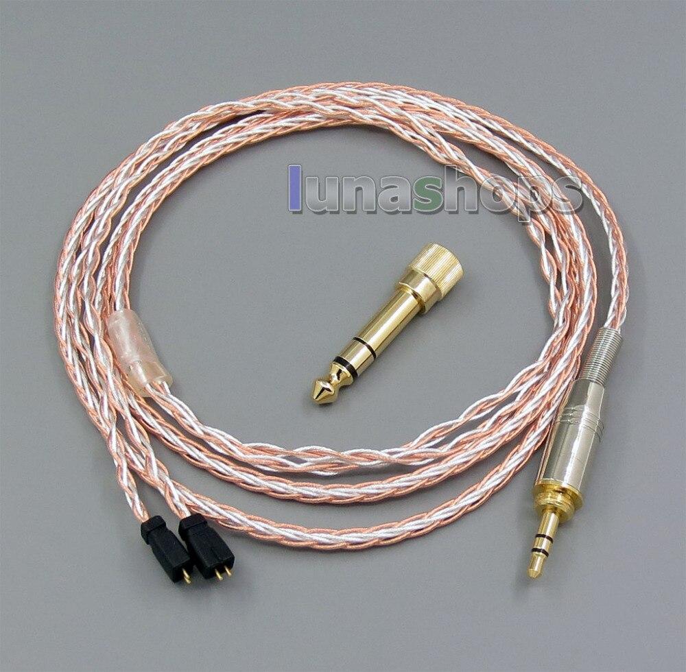 800 Wires Soft Silver + OCC Alloy Teflon AFT Earphone Cable For Ultimate Ears UE TF10 SF3 SF5 5EB 5pro TripleFi 15vm LN005407