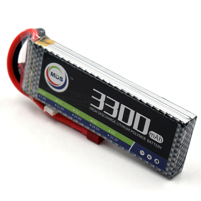 MOS RC Lipo Battery 2s 7.4v 3300mAh 30C-60C For RC Helicopter car Boat Quadcopter Li-Po batteries mos 5s rc lipo battery 18 5v 25c 16000mah for rc aircraft car drones boat helicopter quadcopter airplane 5s li polymer batteria