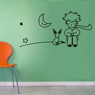 Free Shipping Little Prince Fox Wall Sticker Kid Room Decor Mural Art Vinyl Wallpaper Home Window