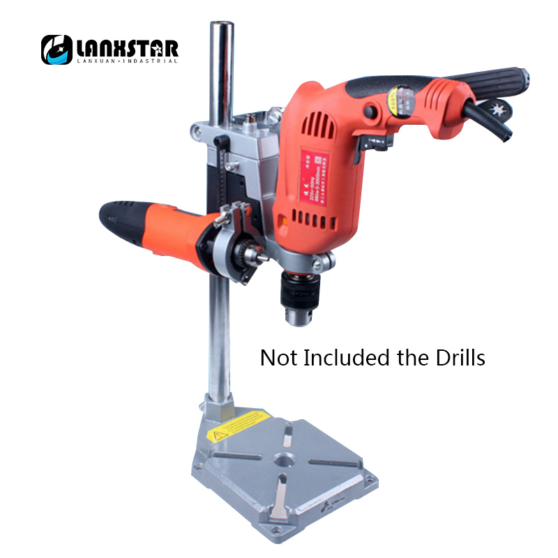 Multifunctional New Double Holes Electric Drill Bracket Grinders Base Woodworking Mini Vise Fixed Grills Holders urijk 1set best quality multifunctional electric drill impact drill household electric woodworking hardware hand tool sets