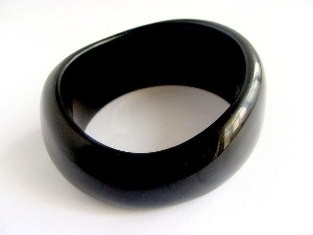 Высокое качество новое поступление европа популярный стиль черный панк широкие браслеты браслет B276