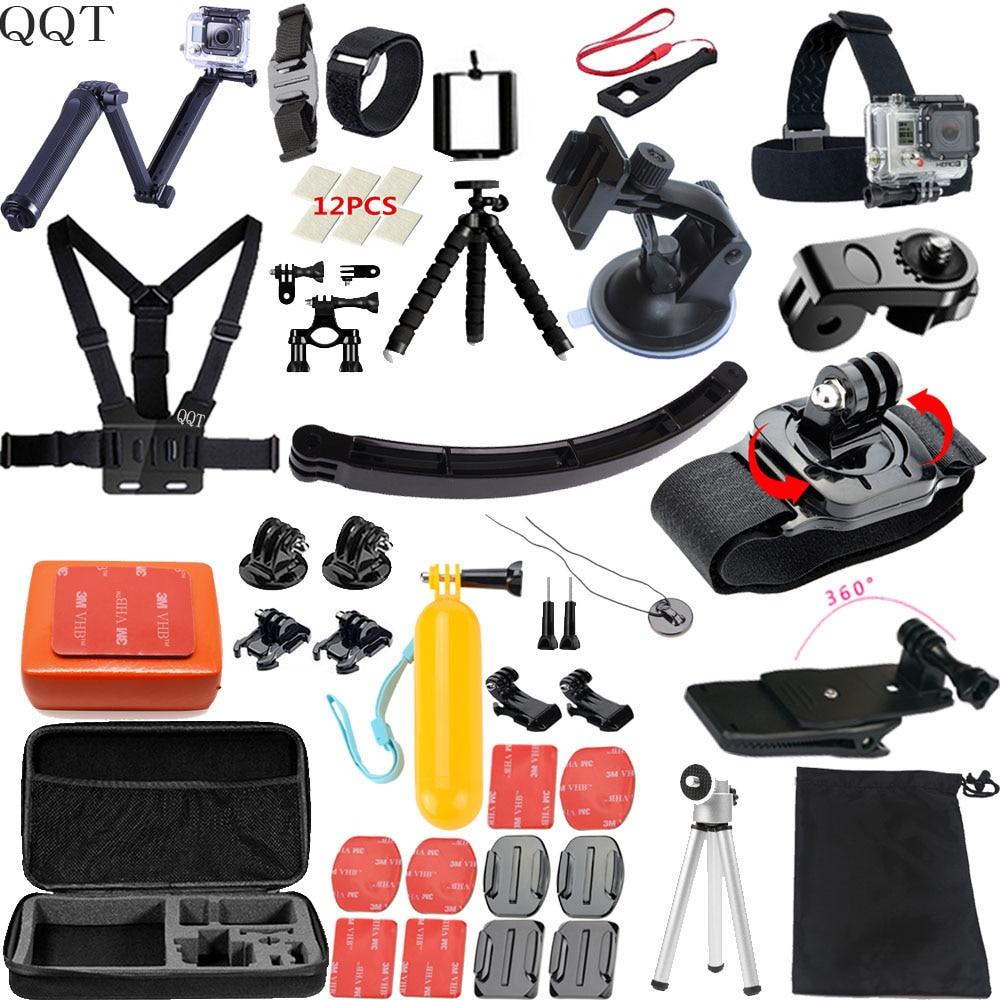 QQT pour GoPro Hero 7 6 5 4 accessoires Set gopro 7 Session SJCAM Millet caméra de sport accessoires de montage gopro