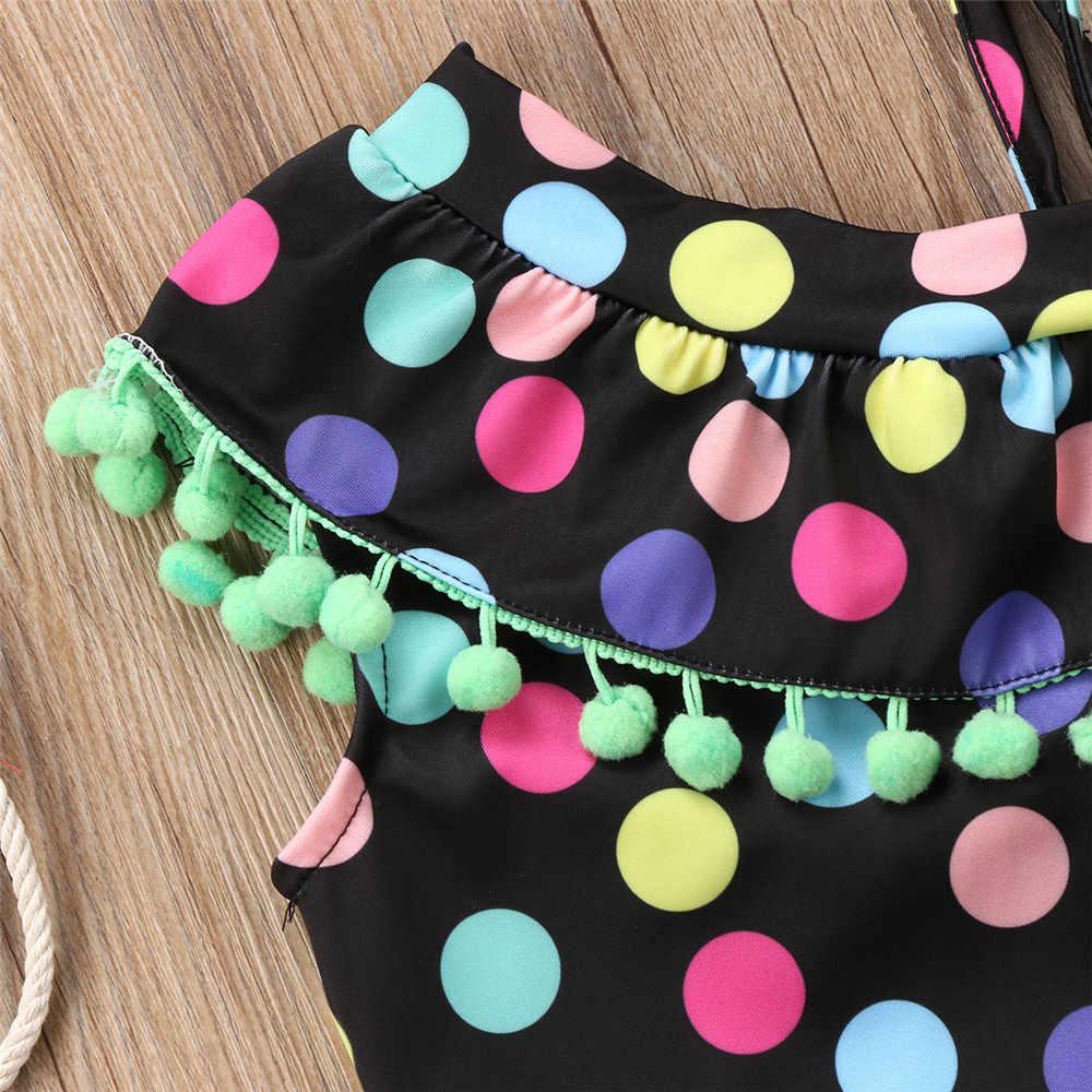 Bebe swim/черный комбинезон с одним плечом для девочек; купальный костюм в горошек с одной подтяжкой для малышей; детская одежда