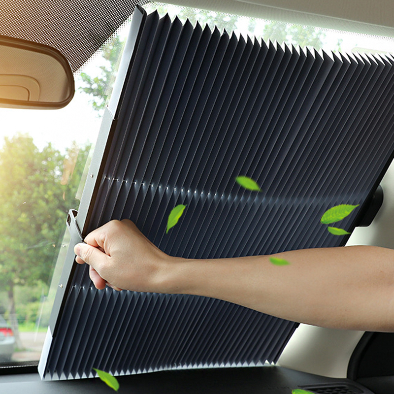 Upgrade Car Windshield Sun Shade Automatic Extension Car Cover Window Sunshade UV Sun Visor Protector Curtain 46CM/65CM/70CM