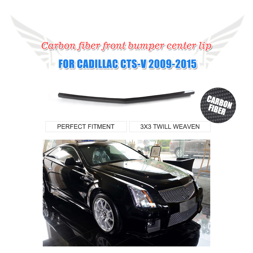 Cadillac Cts V 2009 For Sale: Front Bumper Center Lip Carbon Fiber Spoiler Fit For