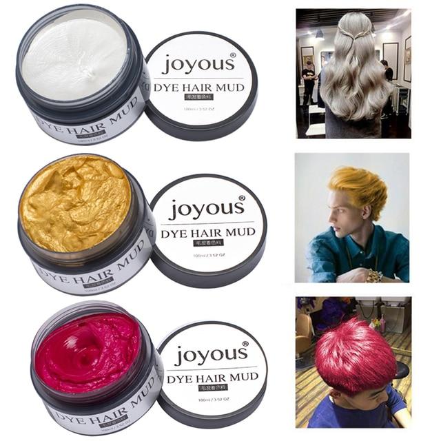 Colored Hair Mud One Time Hair Dye Styling Cream Hair Temporary Dye