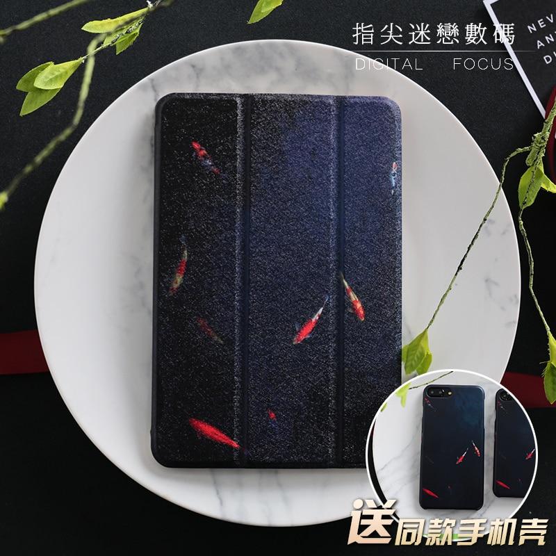 Goldfish Mini4 Mini2 Mini3 Flip Cover For iPad Pro10.5 9.72017 Air Air2 Mini 1 2 3 4 Tablet Case Protective Shell 10.5 9.7 personal cartoon boat mini4 mini2 mini3 lovers flip cover for ipad pro 9 7 air air2 mini 1 2 3 4 tablet case protective shell