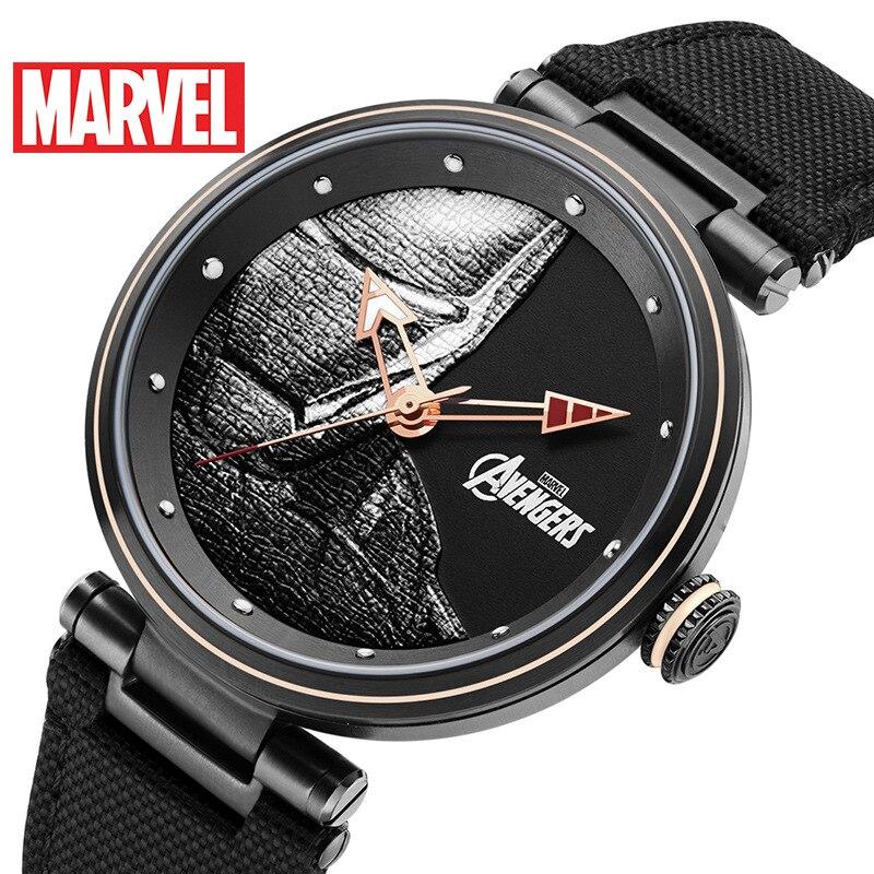 Mens Watch MARVEL Quartz Water-Resistant Male Top-Brand Luxury Sport 5bar Iron-Man Boys