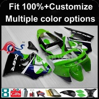 Injection mold green black motorcycle cowl for Kawasaki ZX-6R 1998-1999 98 99 ZX6R 1998 1999 98-99 ABS Plastic Fairing