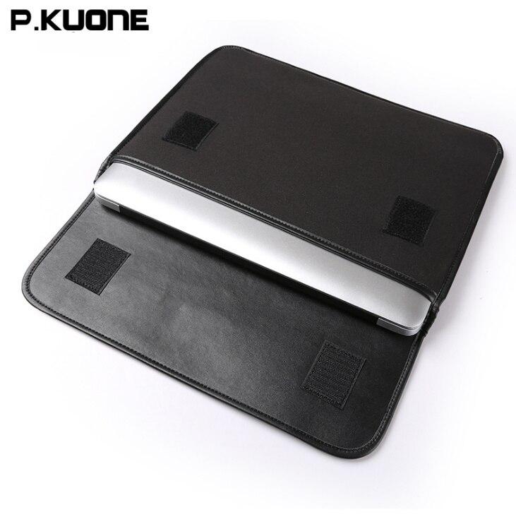 2018 new arrived P.KUONE Briefcase Business Shoulder Genuine Leather Messenger Bags Multifunction Computer Laptop Men Handbag
