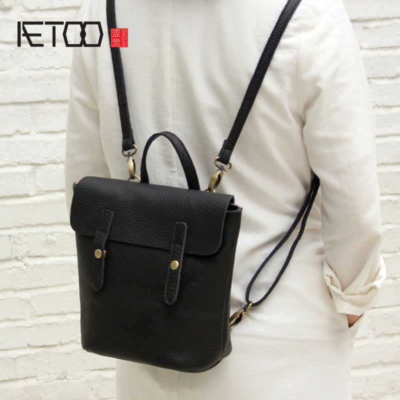 AETOO Simple design leather single shoulder bag dual-use female package 2017 new Korean version of the limelight leather small b european candy color jelly package imported rubber rubber single shoulder handbag concise doctrine finalize the design package