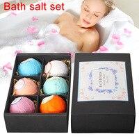 6pcs Bath Salt Bombs Ball Soap Skin Care SPA Whitening Moisture Relaxation Gift Women Body Cleaning Cosmetic Bath Salt SetH7JP