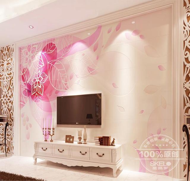 3d floor Stereo tiles Ceramic tile background wall simple modern TV ...