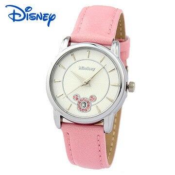 Disney brands Mickey mouse Children's watches boys girls waterproof quartz watch leather kids watches Cartoon clocks relogio