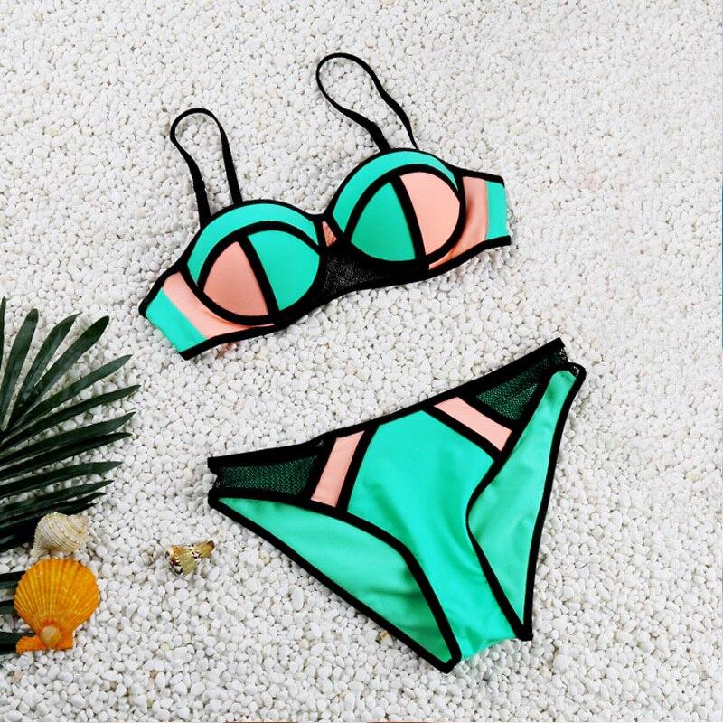push up bikini 2017 new swimwear female swimsuit women tankini set bikini set maillot de bain femme bathing suit twist push up peplum print tankini set