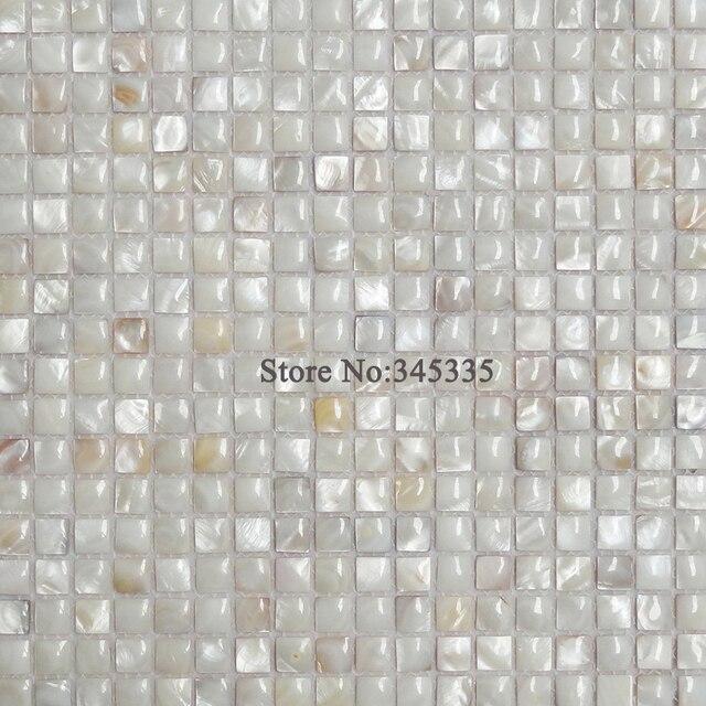 Bianco 3D fiume mattonelle di mosaico delle coperture madreperla ...
