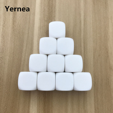 5Pcs/Lot Blank Dice White Rounded Corner D6 Hexahedron Can Write Creative Children Teching DIY Set Yernea