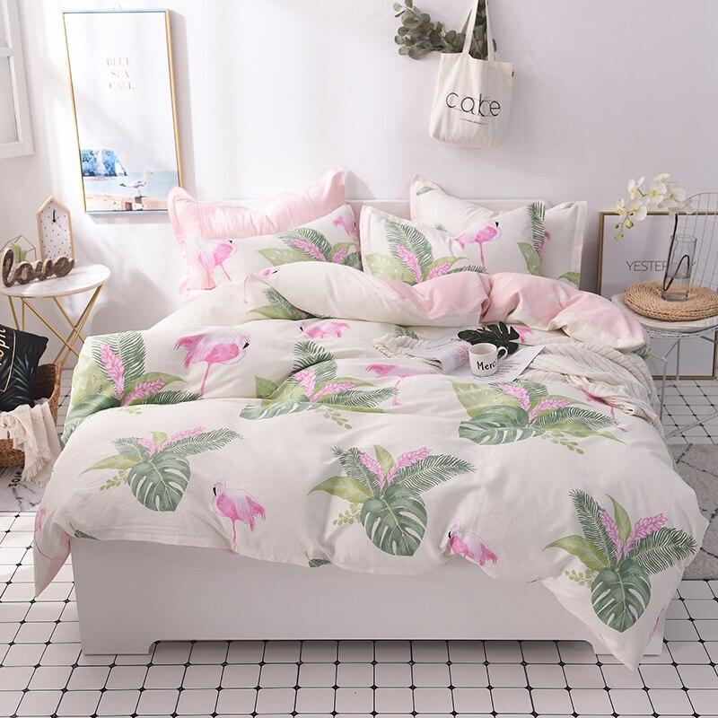 100 Cotton kids girls Bedding Set bed set Twin Queen King size Bed sheet Fit sheet