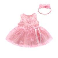 Princess Newborn Baby Girl Dress Clothes Summer Infant Lace Party Dress Wedding Christening Gown Girls Dressess