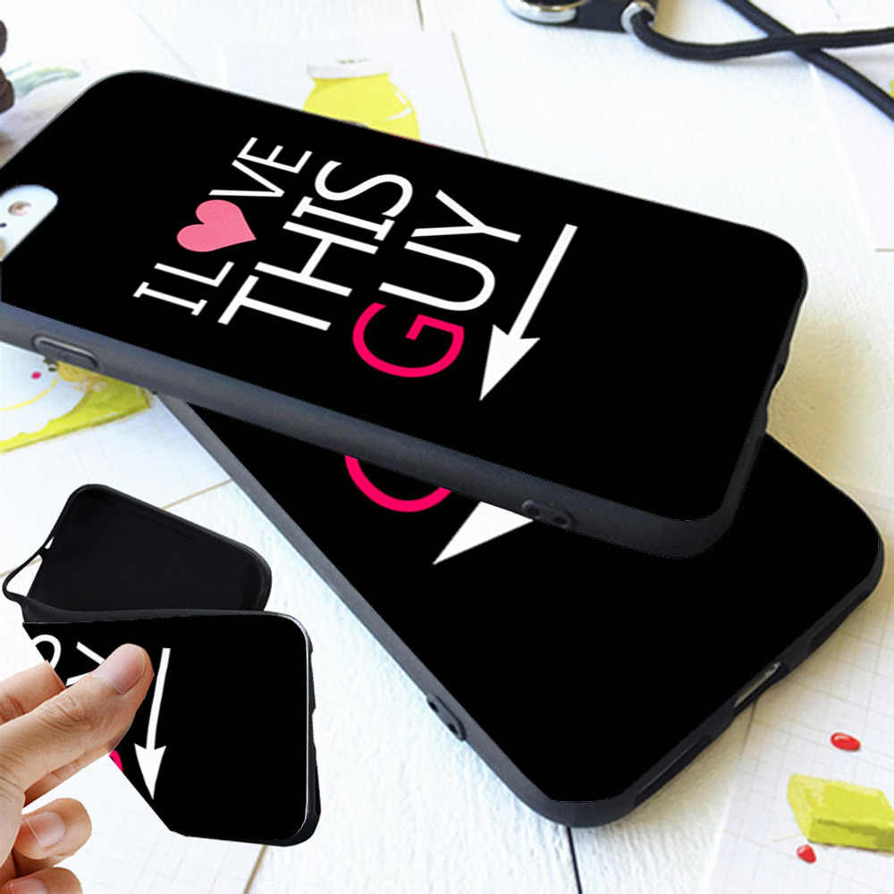 0582d41a35 ... I Love My Boyfriend Girlfriend BFF Couple Matching Case Cover For iPhone  X 8 5S SE